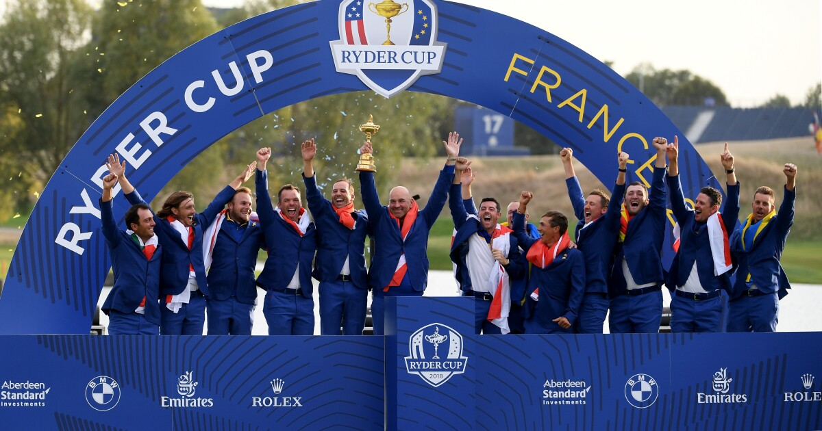 How many times has Europe won The Ryder Cup?