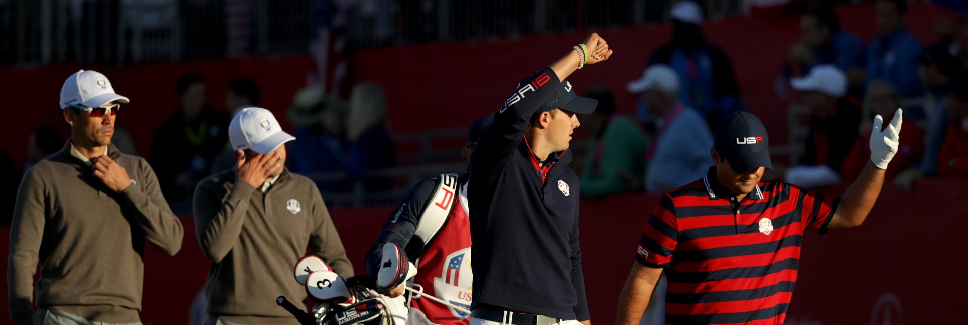 Jordan Spieth and Patrick Reed  2016 Ryder Cup - Morning Foursome Matches