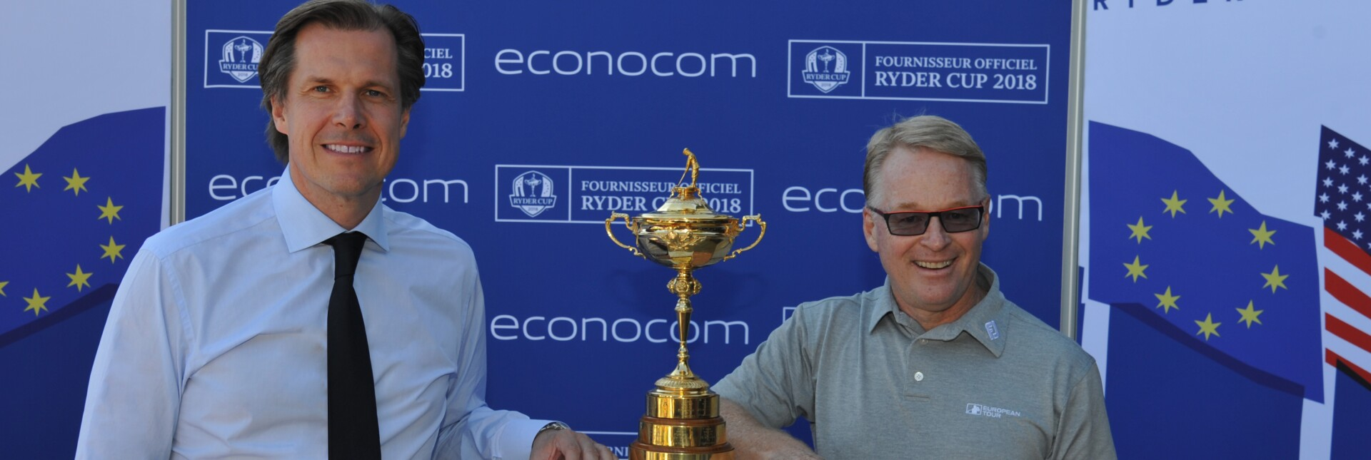 Robert Bouchard, CEO of Econocom Group and Keith Pelley CEO of the European Tour.jpg
