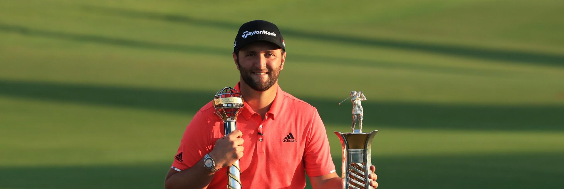 Jon Rahm after triumphing twice in Dubai
